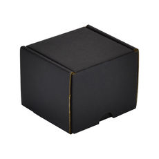 One Piece Postage & Gift Box 15285 - Kraft Black (Double Sided Black)