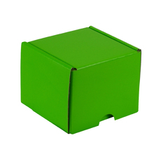 One Piece Postage & Gift Box 15285 - Premium Gloss Lime Green (White Inside)