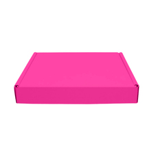 One Piece Postage & Gift Box 15351 - Premium Gloss Hot Pink (White Inside)