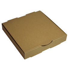 Pizza Box 9 Inch One Piece - Kraft Brown (Brown Inside)