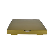 Premium Pizza Box 9 Inch One Piece - Premium Gloss Gold (White Inside)