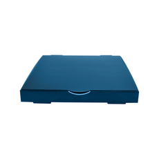 Premium Pizza Box 9 Inch One Piece - Premium Matt Navy Blue (White Inside)