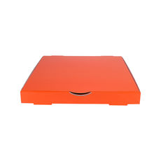 Premium Pizza Box 9 Inch One Piece - Premium Gloss Orange (White Inside)