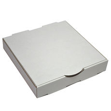 Premium Pizza Box 9 Inch One Piece - Kraft White Double Sided (White Inside)