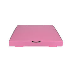 Premium Pizza Box 11 Inch One Piece - Premium Gloss Baby Pink (White Inside)