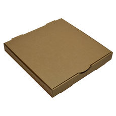 Premium Pizza Box 13 Inch One Piece - Kraft Brown (Brown Inside)