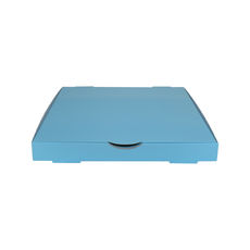Premium Pizza Box 13 Inch One Piece - Premium Gloss Baby Blue (White Inside)
