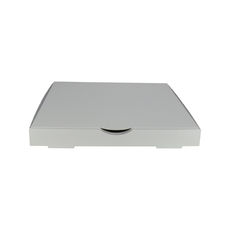 Premium Pizza Box 13 Inch One Piece - Premium Matt White (White Inside)