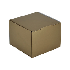 1 Donut & Cake One Piece Cardboard Box Kraft Brown (Brown Inside)