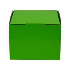 1 Donut & Cake One Piece Cardboard Box 16868 - Premium Gloss Lime Green (White Inside)