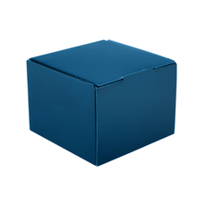 1 Donut & Cake One Piece Cardboard Box 16868 - Premium Matt Navy Blue (White Inside) Temp out of Stock