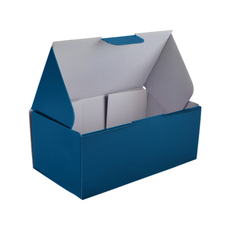2 Donut & Cake One Piece Cardboard Box Matt Navy Blue (White Inside) Temp out of Stock