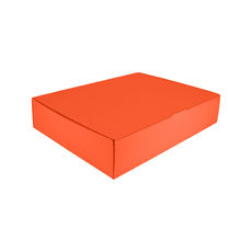 12 Donut & Cake One Piece Cardboard Box 16872 - Premium Matt Orange (White Inside)