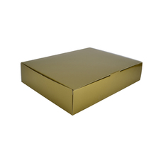 12 Donut & Cake One Piece Cardboard Box 16872 - Premium Gloss Gold (White Inside)