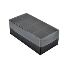 16 Pack Chocolate Box Base & Clear Lid - Matt Black (Minimum Order 100 units)  - Paperboard