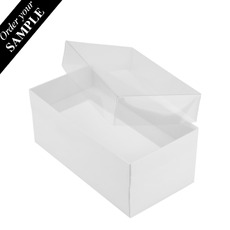 SAMPLE - Rectangle 16 with Clear Lid - Smooth White - Paperboard