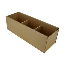 Pick Bin Box 17978 (One Piece Self Locking Cardboard Storage Box) - Kraft Brown (Brown Inside)