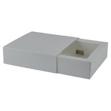 Slide Over Cover Small Base & Lid- Smooth White