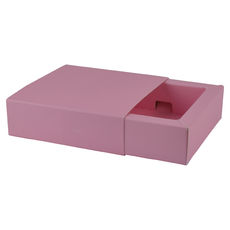 Slide Over Cover Small Base & Lid - Premium Matt Pink  - Paperboard