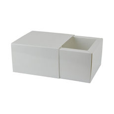 Slide Over Cover Medium Base & Lid - Smooth White