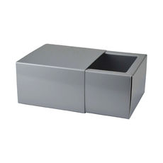 Slide Over Cover Medium Base & Lid - Gloss Silver