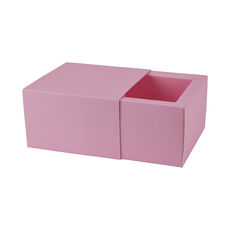 Slide Over Cover Medium Base & Lid - Matt Pink  - Paperboard - Temp out of Stock
