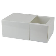 Slide Over Cover Large Base & Lid - Smooth White  - Paperboard