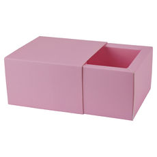 Slide Over Cover Large Base & Lid - Matt Pink  - Paperboard