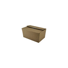 One Fold Small - Kraft Brown (Brown Inside) - Paperboard