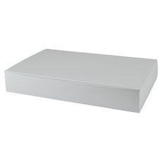 One Piece Self Locking Large- Gloss White - Paperboard