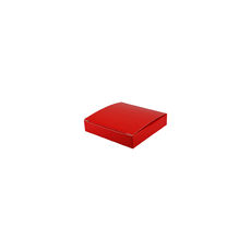 Medium Keyring Box- Gloss Red