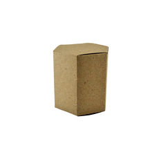 Hexagon Tiny - Recycled Brown (Brown Inside) - Paperboard