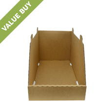 Stackable Storage & Bin Box - 18031 Kraft Brown (One Piece Self Locking Cardboard Storage Box)