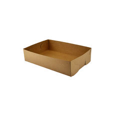 Paperboard Food Tray 1 - Kraft Brown (Brown Inside)
