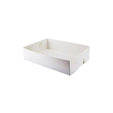 Paperboard Food Tray 1 - Smooth White Paperboard (285gsm)