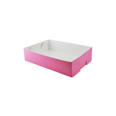 Paperboard Food Tray 1 - Matt Pink  - Paperboard - Temp out of Stock
