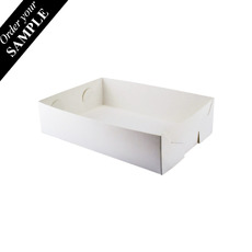 SAMPLE - Paperboard Food Tray 2 - Smooth White