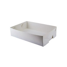 Paperboard Food Tray 2- Gloss White  - Paperboard