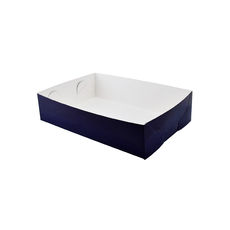 Paperboard Food Tray 2 - Matt Navy