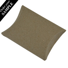 SAMPLE - Premium Pillow Pack Tiny - Recycled Brown (Brown Inside) - Paperboard