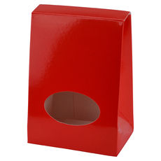 Pyramid Small with Cut Out - Gloss Red  - Paperboard