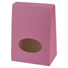 Pyramid Small with Cut Out - Matt Pink  - Paperboard - Temp out of Stock
