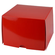 One Donut & Cake Box - Gloss Red Paperboard