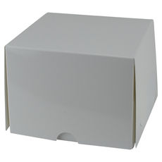 One Donut & Cake Box - Gloss White Paperboard (White Inside)