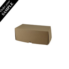 SAMPLE - Two Donut & Cake Box - Kraft Brown Paperboard (Brown Inside) - Paperboard