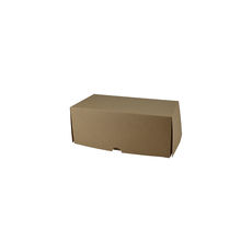 Two Donut & Cake Box - Kraft Brown Paperboard (Brown Inside)