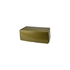 Two Donut & Cake Box - Gloss Gold Paperboard