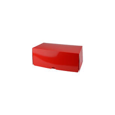 Two Donut & Cake Box - Gloss Red Paperboard (White Inside)
