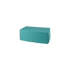 Two Donut & Cake Box - Matt Blue Paperboard  - Paperboard