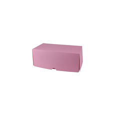 Two Donut & Cake Box - Matt Pink Paperboard
